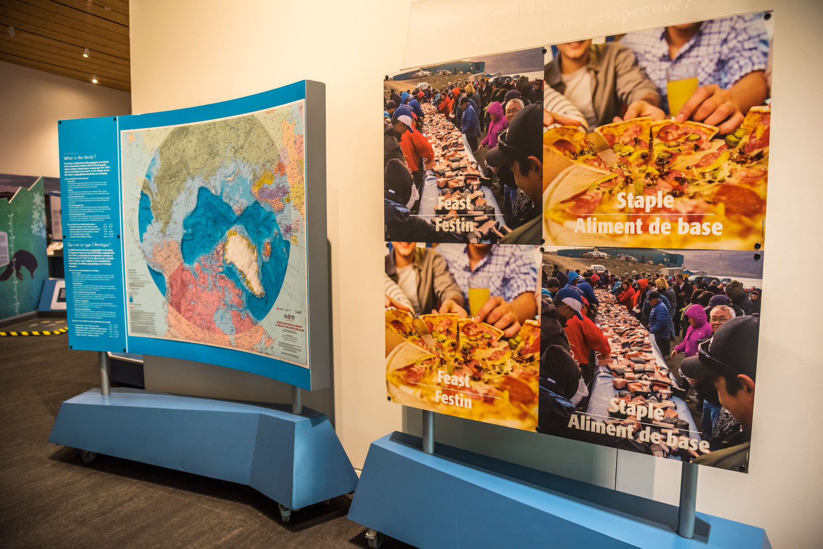 A display from 'Arctic Voices'