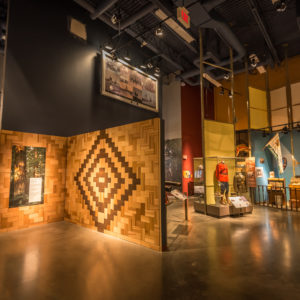 A view of both the entrance to the 'Indigenous Hall' and the 'Surrey Stories Gallery'