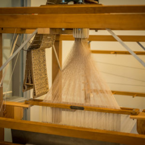 Detail of the Jacquard Loom in the Honey Hooser Textile Centre