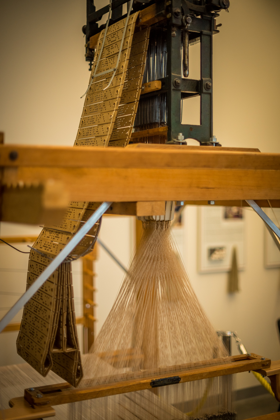 Detail of the Jacquard Loom situated in the Honey Hooser Textile Centre