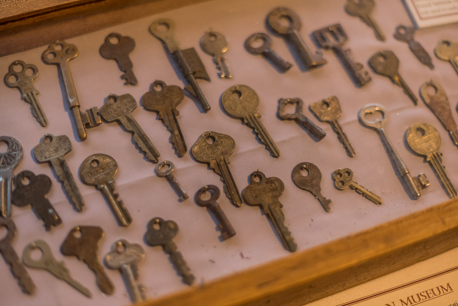 Keys from the museum's collection