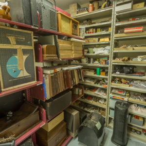 Collection storage located in the basement of the museum