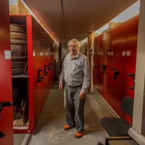 Jim Millar in the basement