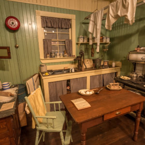 Recreation of domestic life during the industrial period of Mission's past