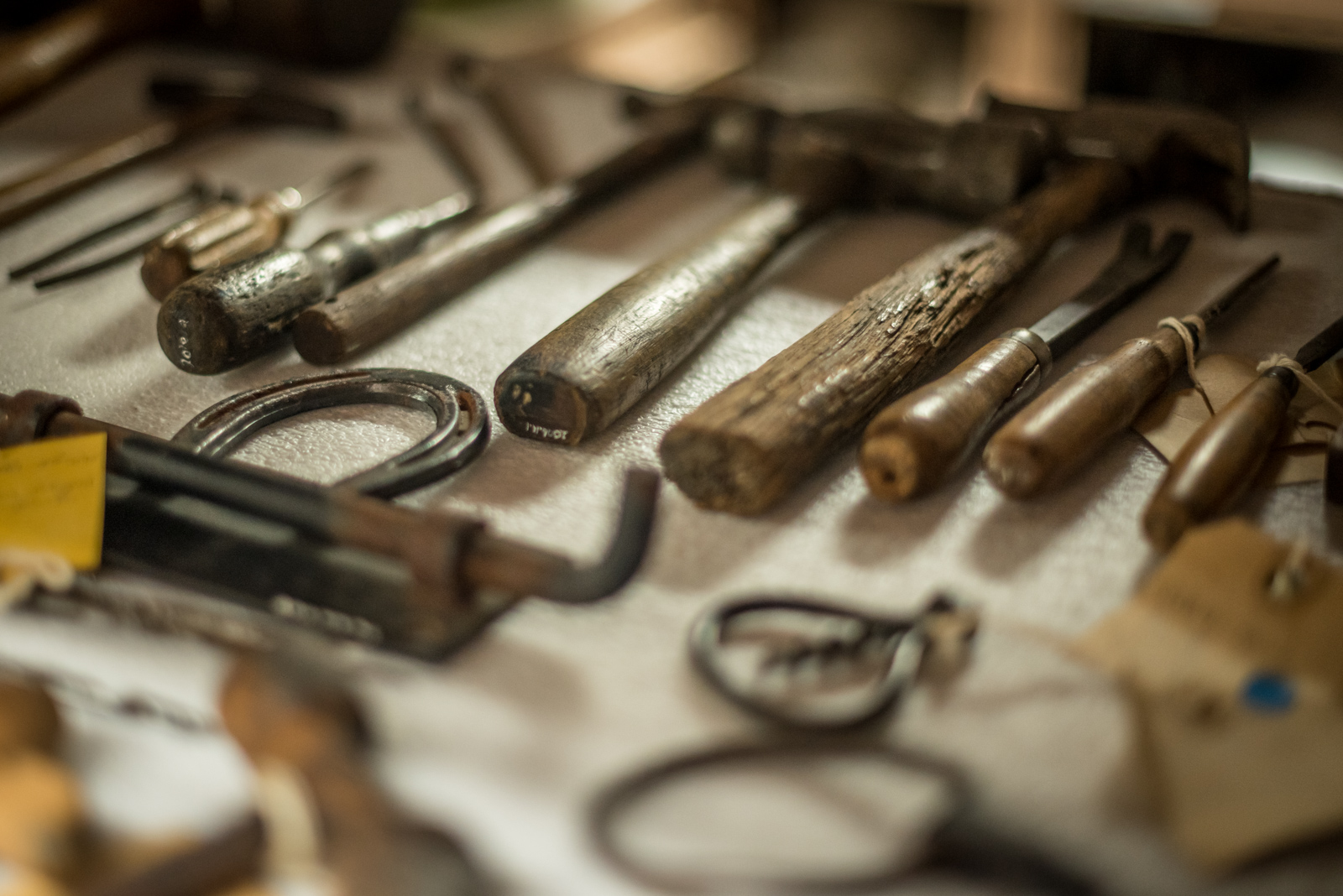Assortment of hand tools from the Museum's collection