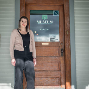 Manager of the Mission Museum, Kate Feltren