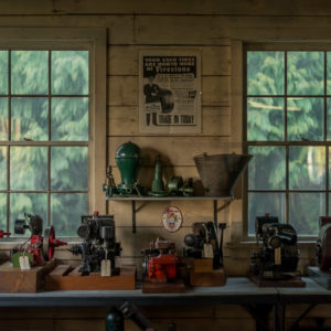 Interior of Hans Hoffman's machine shop