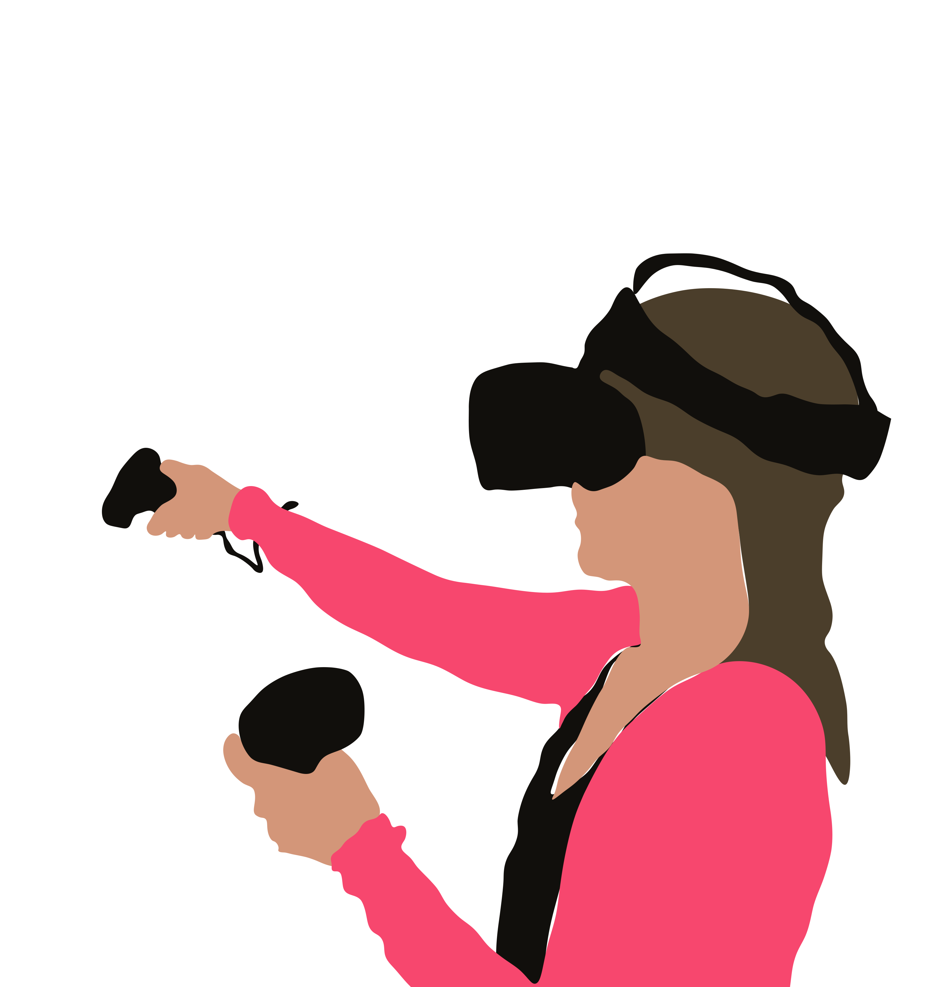 Illustration of a woman in a VR headset